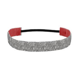 Black and White Paisley Athletic Headband