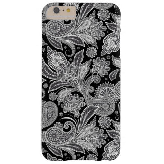 Black And White Paisley Ham Damasks Pattern Barely There iPhone 6 Plus Case