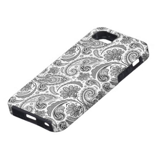 Black And White Paisley Lace Retro Pattern iPhone 5 Cover