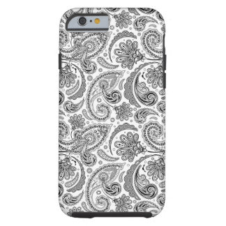Black And White Paisley Lace Retro Pattern iPhone 6 Case