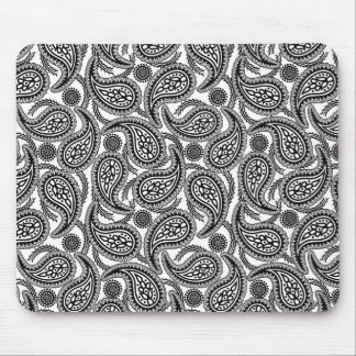 Black and white paisley mouse pad