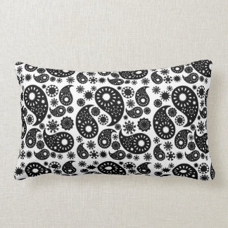 Black and White Paisley. Pillow
