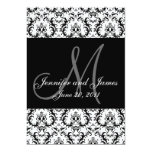 Black and White Paisley Wedding Save The Date Card
