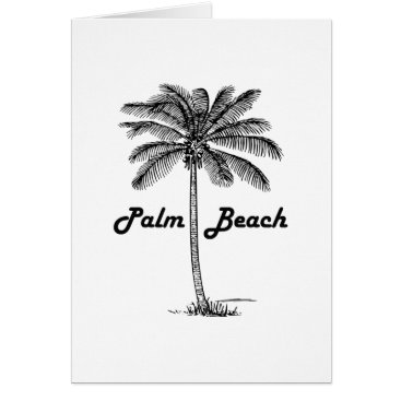 USA Themed Black and white Palm Beach Florida & Palm design Card