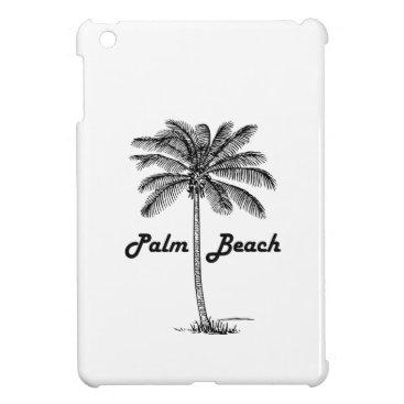 USA Themed Black and white Palm Beach Florida & Palm design iPad Mini Cases