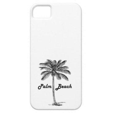 USA Themed Black and white Palm Beach Florida & Palm design iPhone SE/5/5s Case