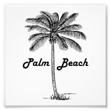 USA Themed Black and white Palm Beach Florida & Palm design Photo Print
