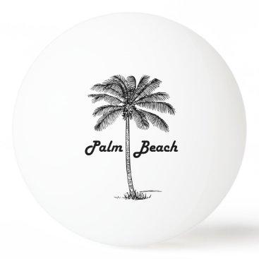 USA Themed Black and white Palm Beach Florida & Palm design Ping-Pong Ball