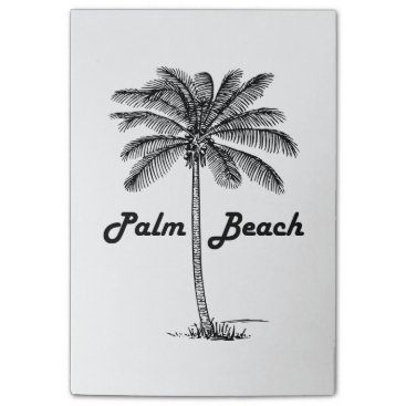Black and white Palm Beach Florida & Palm design Post-it® Notes