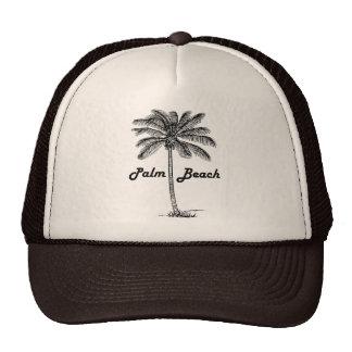 Black and white Palm Beach Florida & Palm design Trucker Hat