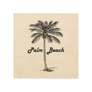 USA Themed Black and white Palm Beach Florida & Palm design Wood Wall Decor