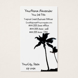 Black and White Palm Tree Business Card