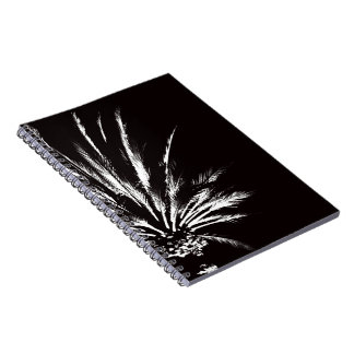 Black and White Palm Tree Spiral Notebook