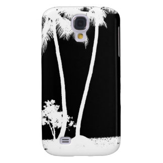 Black and White Palm Trees Galaxy S4 Cover