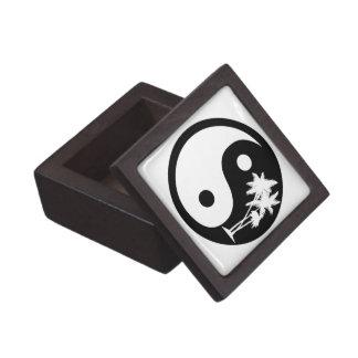 Black and White Palm Trees Yin Yang Gift Box