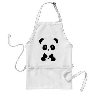 Black and White Panda Bear Adult Apron