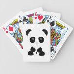 Black and White Panda Bear Bicycle Playing Cards