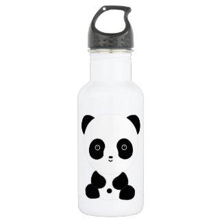 Black and White Panda Bear Stainless Steel Water Bottle