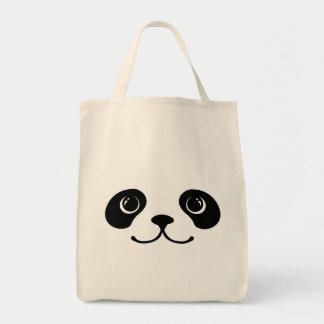 Black And White Panda Cute Animal Face Design Bags