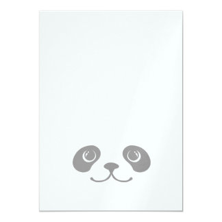 Black And White Panda Cute Animal Face Design Card
