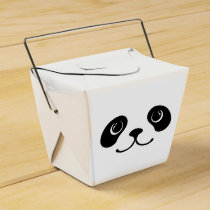 Black And White Panda Cute Animal Face Design Favor Box