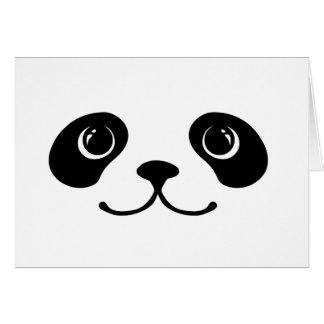 Black And White Panda Cute Animal Face Design Greeting Card