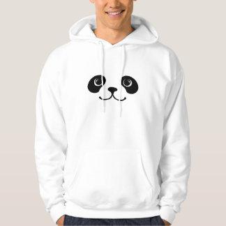 Black And White Panda Cute Animal Face Design Hoodie