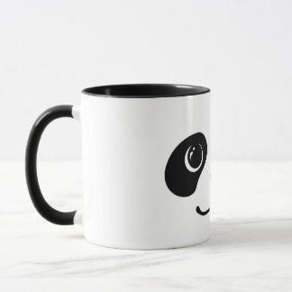 Black And White Panda Cute Animal Face Design Mug