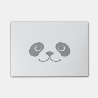 Black And White Panda Cute Animal Face Design Post-it® Notes