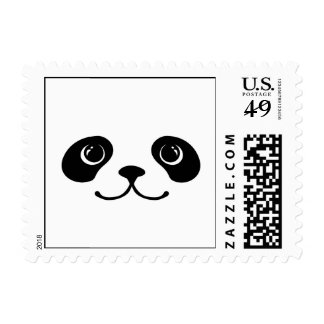 Black And White Panda Cute Animal Face Design Postage Stamps