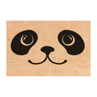 Black And White Panda Cute Animal Face Design Photo Cork Paper