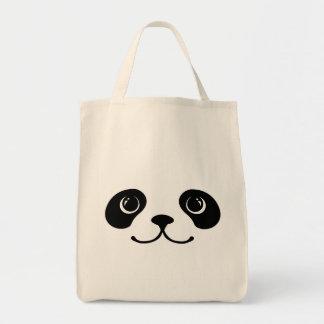 Black And White Panda Cute Animal Face Design Tote Bag