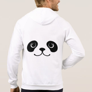 Black And White Panda Cute Animal Face Design Hoodies