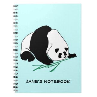 Black and White Panda Eats Bamboo Notebook
