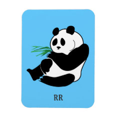 Black And White Panda Sitting, Flexible Magnet at Zazzle