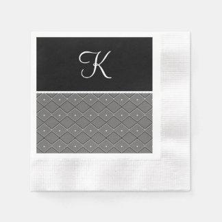 Black and White Paper Napkin
