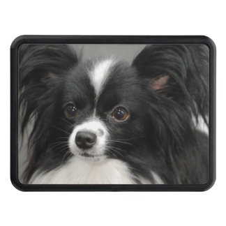 Black and White Papillon Hitch Cover