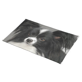 Black and White Papillon Cloth Placemat