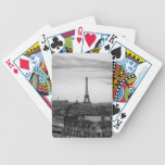 Black and White Paris Bicycle Poker Deck