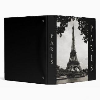 Black and White Paris binder