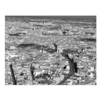 Black and White Paris view Post Card