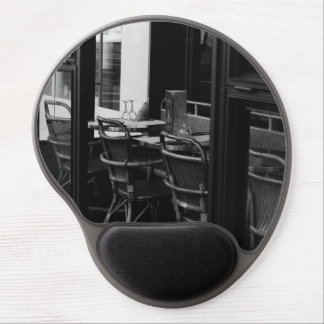 Black and White Parisian Diner Gel Mouse Pad