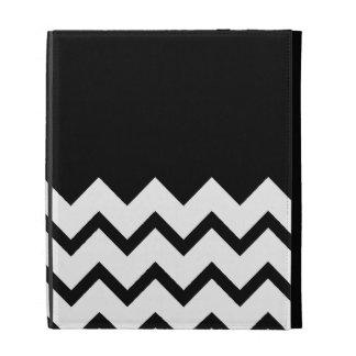 Black and White. Part Zig Zag, Part Plain Black. iPad Case