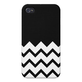 Black and White. Part Zig Zag, Part Plain Black. Case For iPhone 4