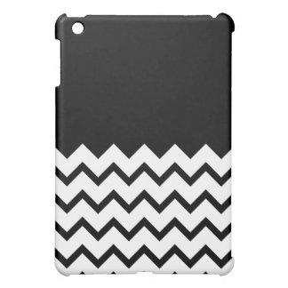 Black and White. Part Zig Zag, Part Plain Black. Case For The iPad Mini