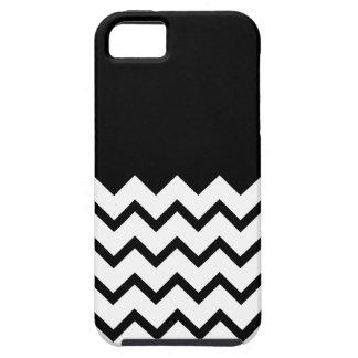 Black and White. Part Zig Zag, Part Plain Black. iPhone SE/5/5s Case