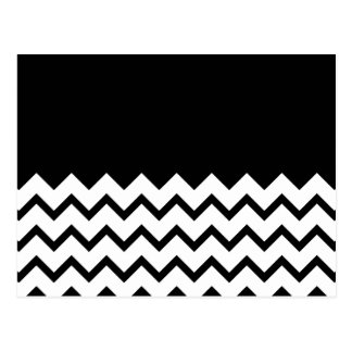 Black and White. Part Zig Zag, Part Plain Black. Postcard
