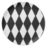 Black And White Party Plates