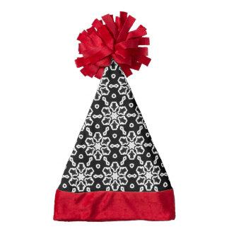 Black and White Pattern 01 Santa Hat