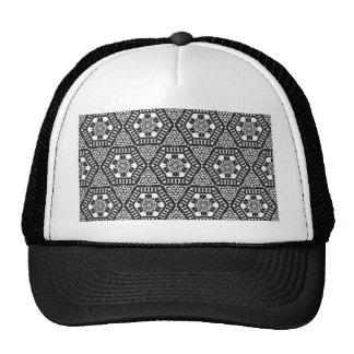 Black and White Pattern 03 Trucker Hat